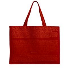 Writing Grace Medium Zipper Tote Bag
