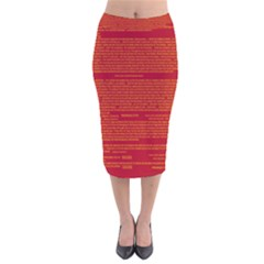 Writing Grace Velvet Midi Pencil Skirt