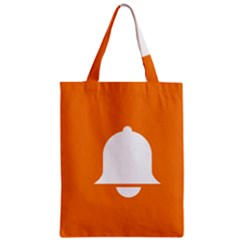Bell Orange Copy Zipper Classic Tote Bag