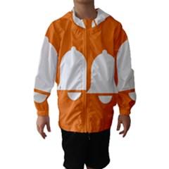 Bell Orange Copy Hooded Wind Breaker (Kids)