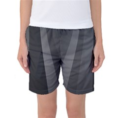 Black Minimalistic Gray Stripes Women s Basketball Shorts