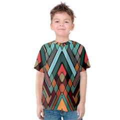 Abstract Mosaic Color Box Kids  Cotton Tee