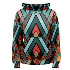Abstract Mosaic Color Box Women s Pullover Hoodie