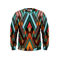 Abstract Mosaic Color Box Kids  Sweatshirt