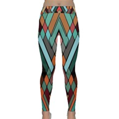 Abstract Mosaic Color Box Classic Yoga Leggings