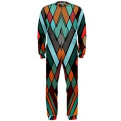 Abstract Mosaic Color Box OnePiece Jumpsuit (Men)
