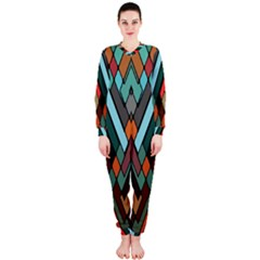 Abstract Mosaic Color Box OnePiece Jumpsuit (Ladies)