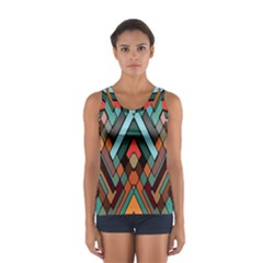 Abstract Mosaic Color Box Women s Sport Tank Top
