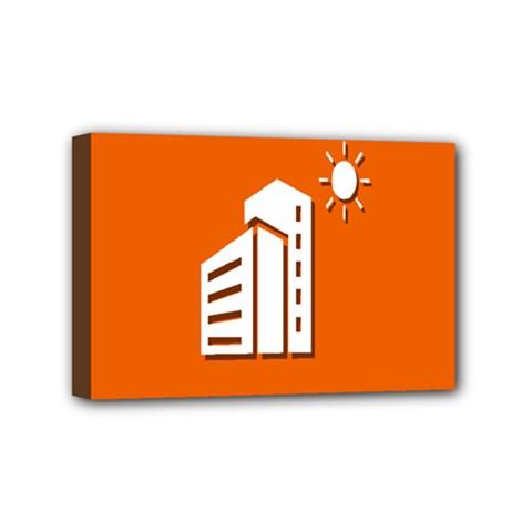 Building Orange Sun Copy Mini Canvas 6  x 4