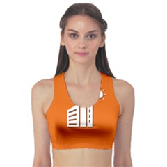 Building Orange Sun Copy Sports Bra