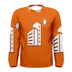 Building Orange Sun Copy Men s Long Sleeve Tee