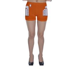Building Orange Sun Copy Skinny Shorts