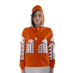 Building Orange Sun Copy Hooded Wind Breaker (Women)