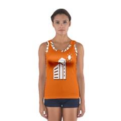 Building Orange Sun Copy Women s Sport Tank Top