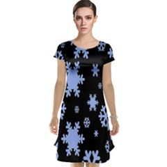 Blue Black Resolution Version Cap Sleeve Nightdress