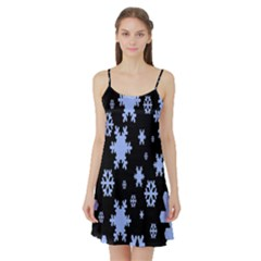 Blue Black Resolution Version Satin Night Slip