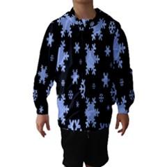 Blue Black Resolution Version Hooded Wind Breaker (Kids)