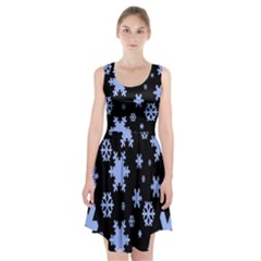 Blue Black Resolution Version Racerback Midi Dress