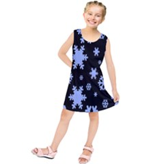 Blue Black Resolution Version Kids  Tunic Dress