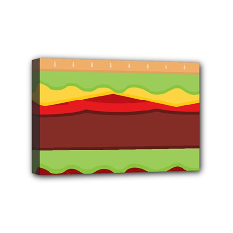 Cake Cute Burger Copy Mini Canvas 6  x 4