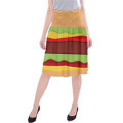 Cake Cute Burger Copy Midi Beach Skirt