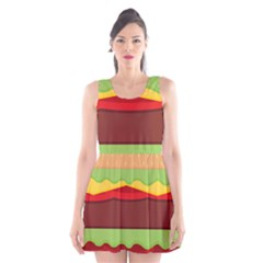 Cake Cute Burger Copy Scoop Neck Skater Dress