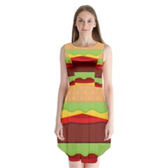 Cake Cute Burger Copy Sleeveless Chiffon Dress