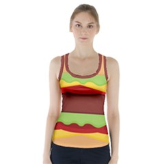 Cake Cute Burger Copy Racer Back Sports Top