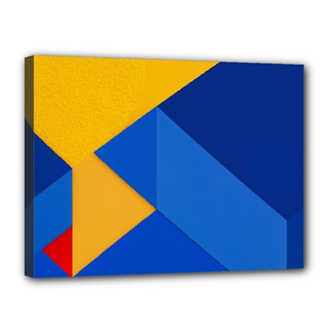 Box Yellow Blue Red Canvas 16  x 12