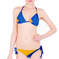 Box Yellow Blue Red Bikini Set