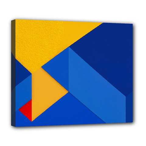 Box Yellow Blue Red Deluxe Canvas 24  x 20
