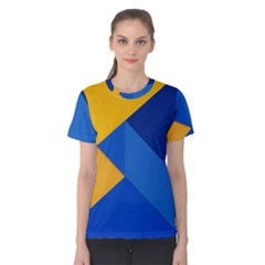 Box Yellow Blue Red Women s Cotton Tee