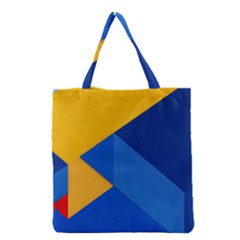 Box Yellow Blue Red Grocery Tote Bag