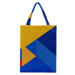 Box Yellow Blue Red Classic Tote Bag