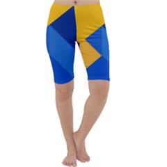 Box Yellow Blue Red Cropped Leggings