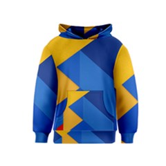 Box Yellow Blue Red Kids  Pullover Hoodie
