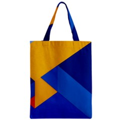 Box Yellow Blue Red Zipper Classic Tote Bag