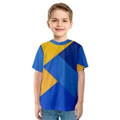Box Yellow Blue Red Kids  Sport Mesh Tee