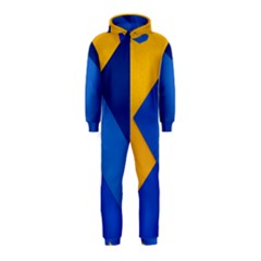 Box Yellow Blue Red Hooded Jumpsuit (Kids)