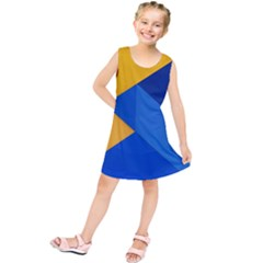 Box Yellow Blue Red Kids  Tunic Dress