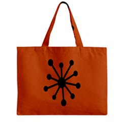Centralized Garbage Flow Zipper Mini Tote Bag