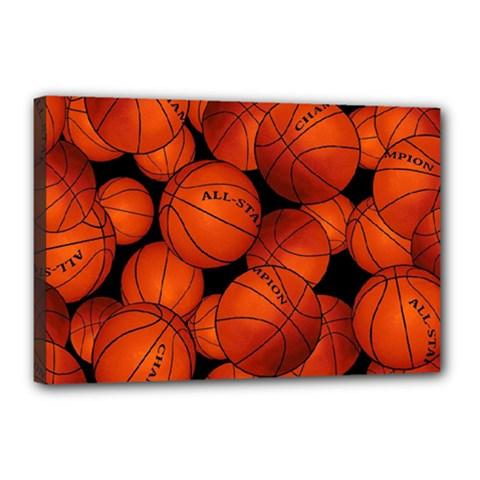 Basketball Sport Ball Champion All Star Canvas 18  x 12