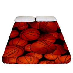 Basketball Sport Ball Champion All Star Fitted Sheet (california King Size)
