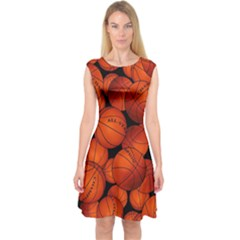 Basketball Sport Ball Champion All Star Capsleeve Midi Dress