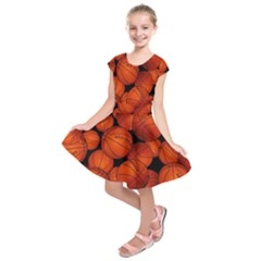 Basketball Sport Ball Champion All Star Kids  Short Sleeve Dress