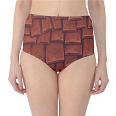 Chocolate High-Waist Bikini Bottoms