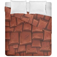 Chocolate Duvet Cover Double Side (california King Size)