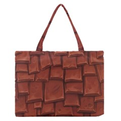Chocolate Medium Zipper Tote Bag