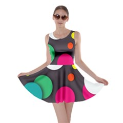 Color Balls Skater Dress