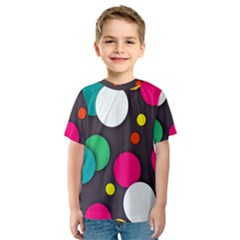 Color Balls Kids  Sport Mesh Tee